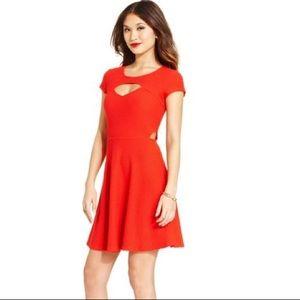 🆕 Material Girl Red Cutout Dress